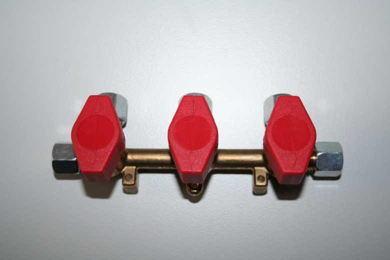 Verteilerblock – 3 Abgänge