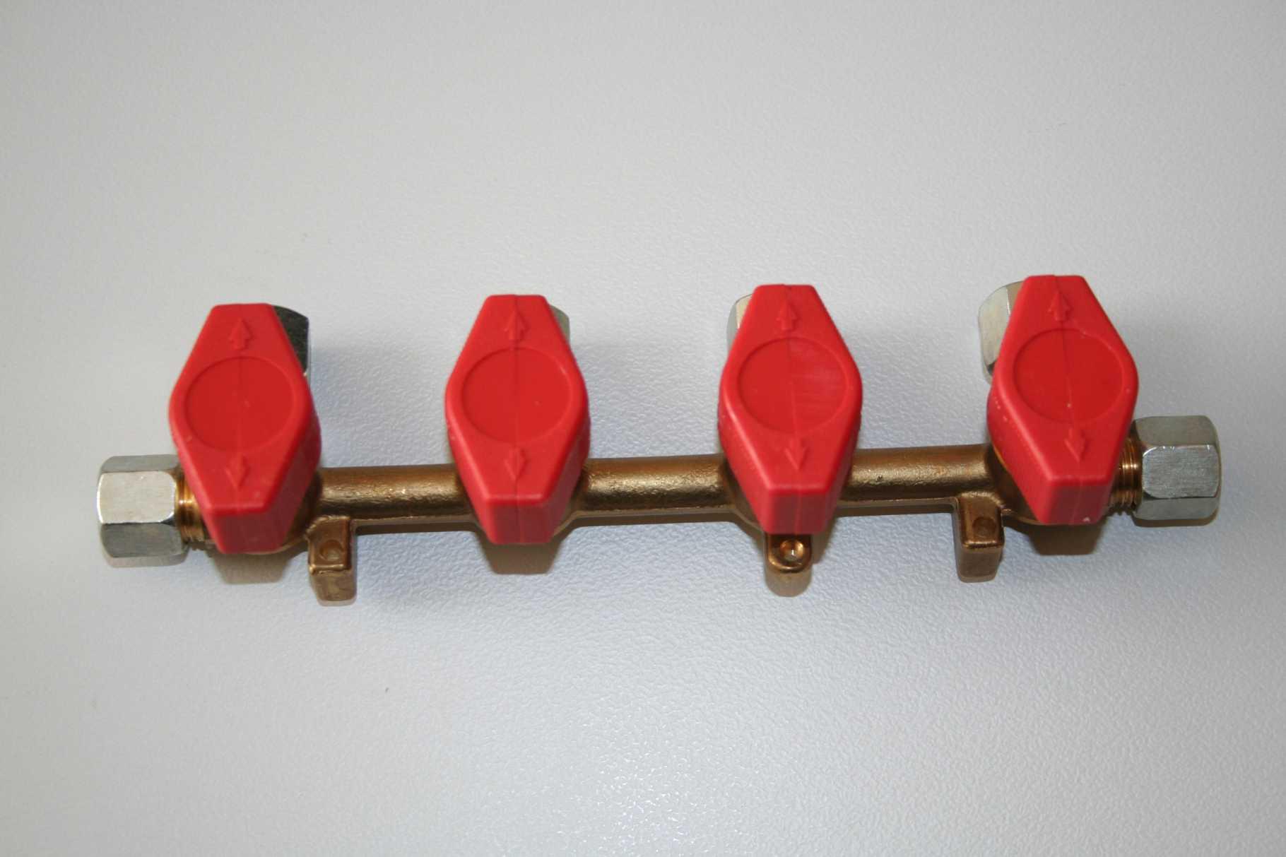Verteilerblock 4 Abgänge